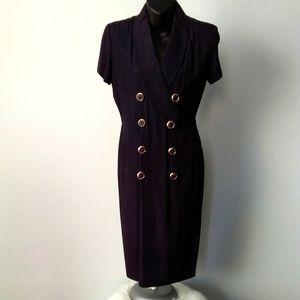 Vintage Faux Wrap Dress